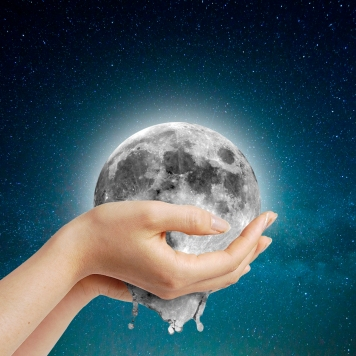 Moon in hands